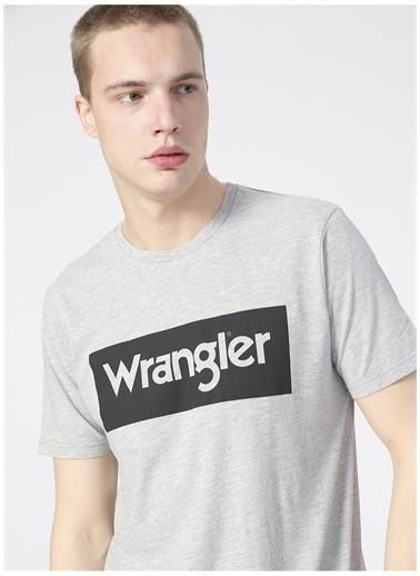 Wrangler Wrangler W742FKX37_Logo T-shirt  Gri